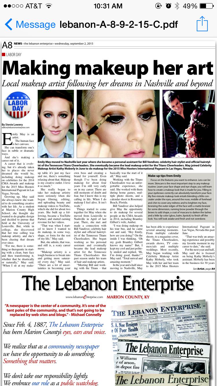 Local Newspaper feature