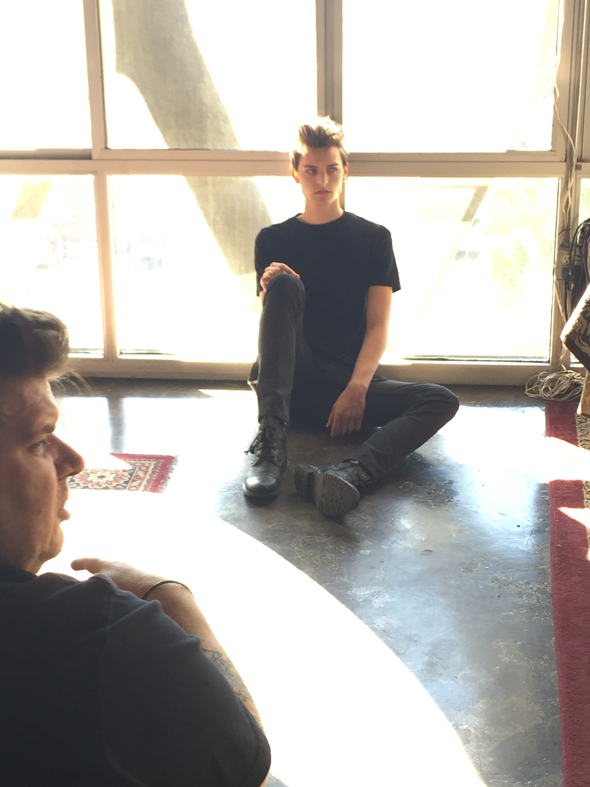 Behind the Scenes on L.A. shoot
