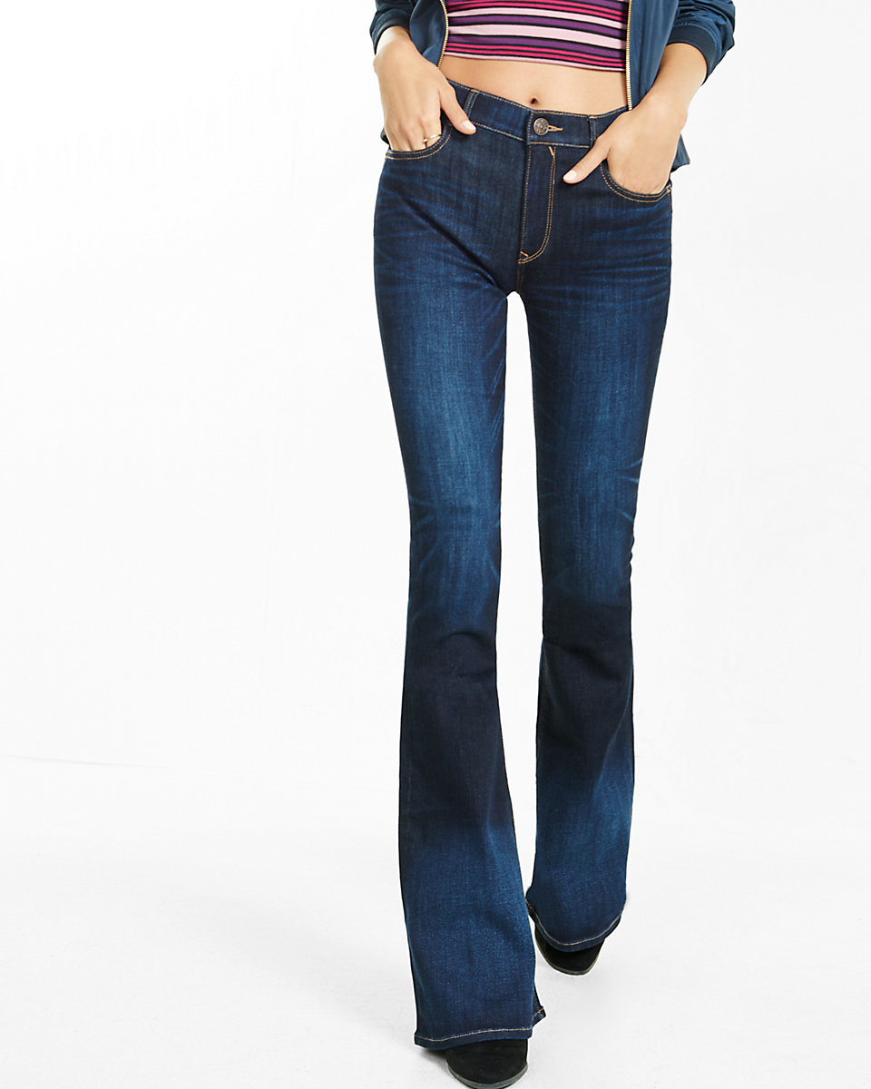 Express High Waisted Flare Jeans