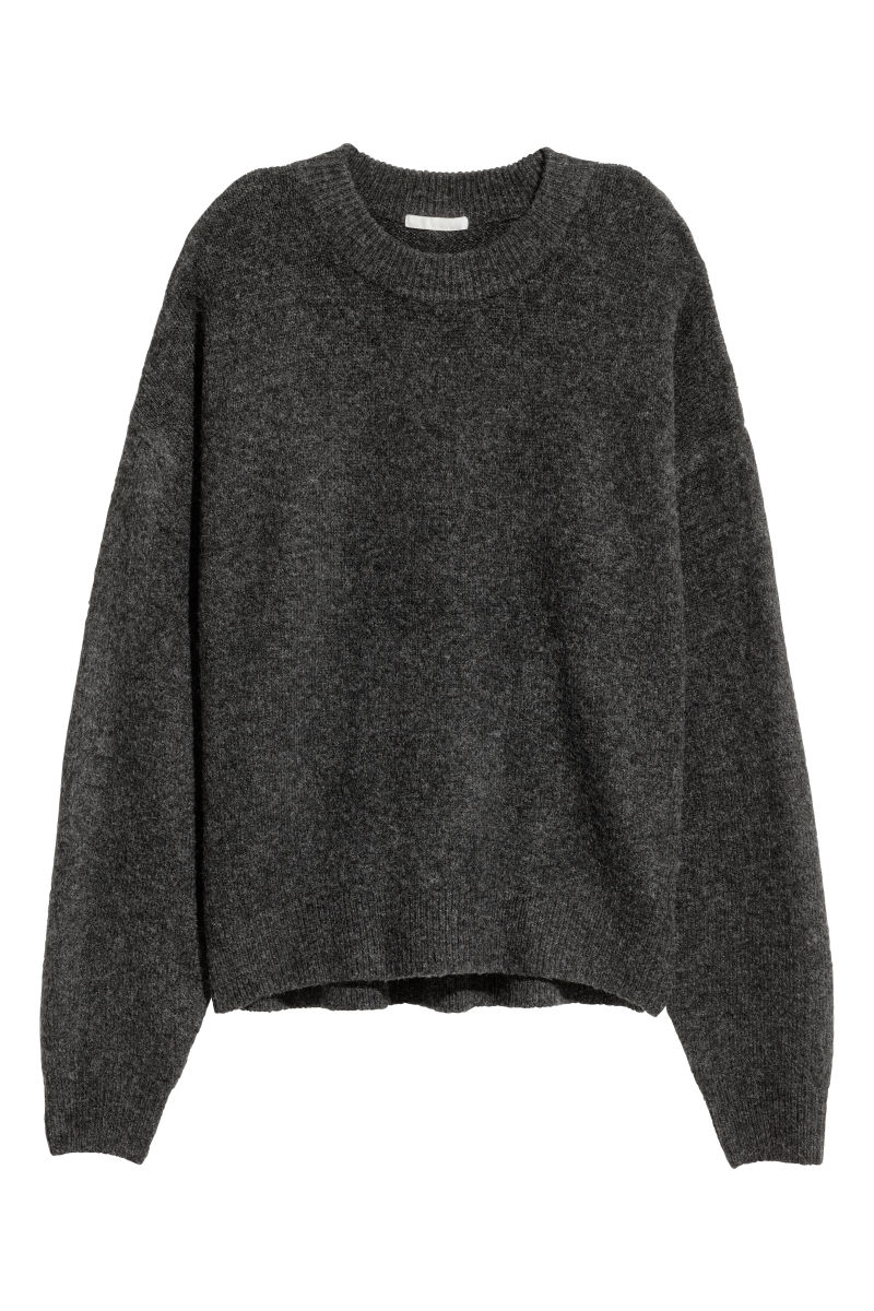spotted maxi - plain gray sweater.jpg