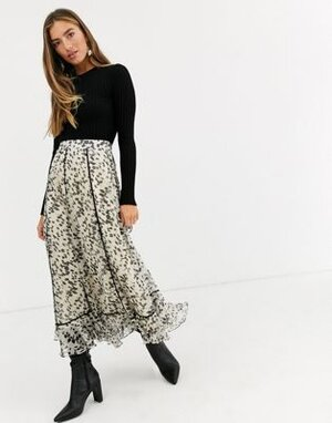 black and white floral asos maxi skirt.jpg