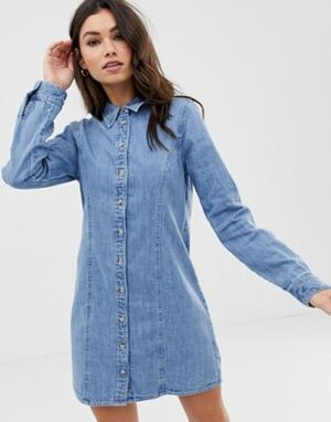 western fitted denim shirt dress.jpg
