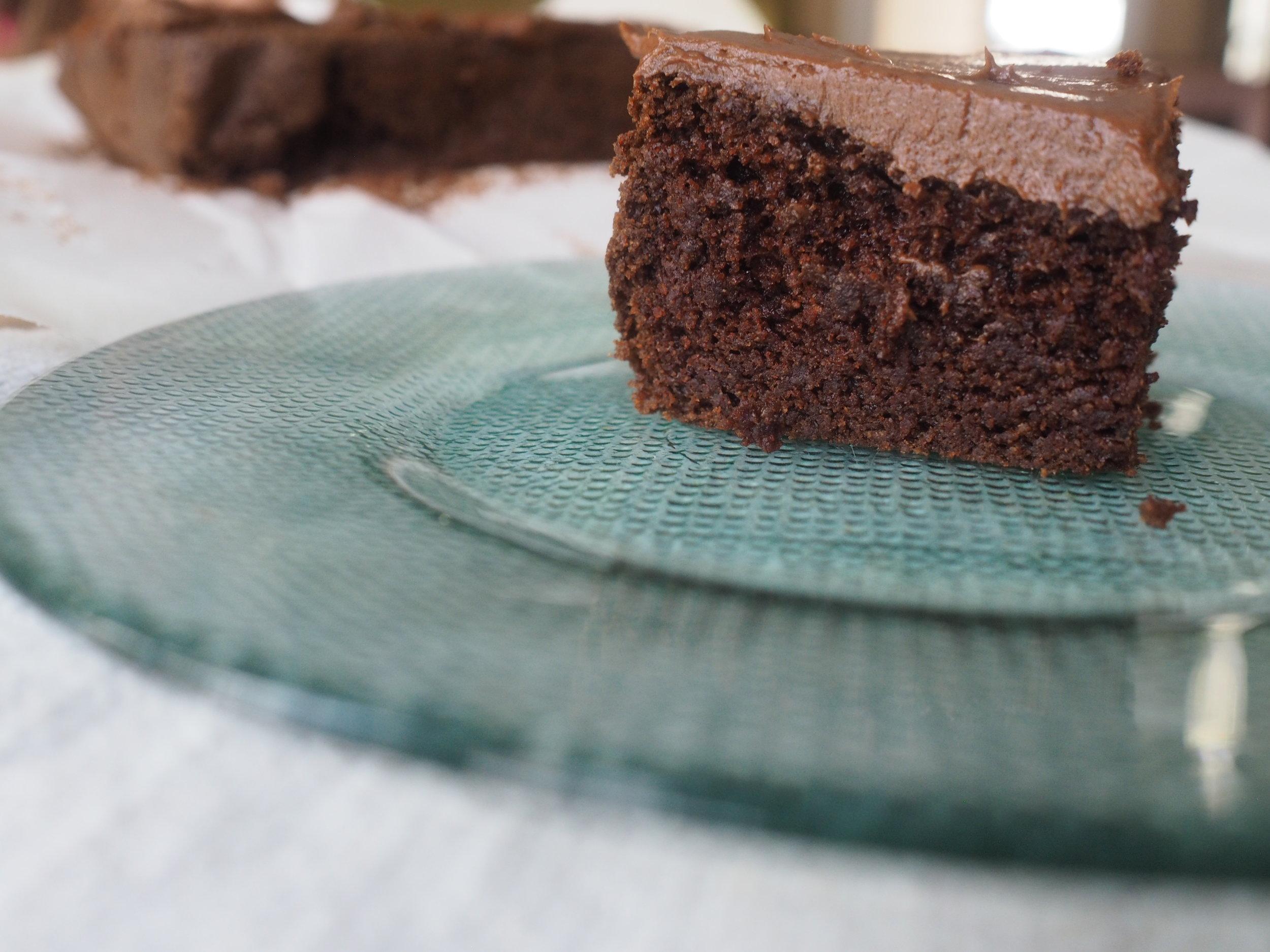 The grain free chocolate brownie cake