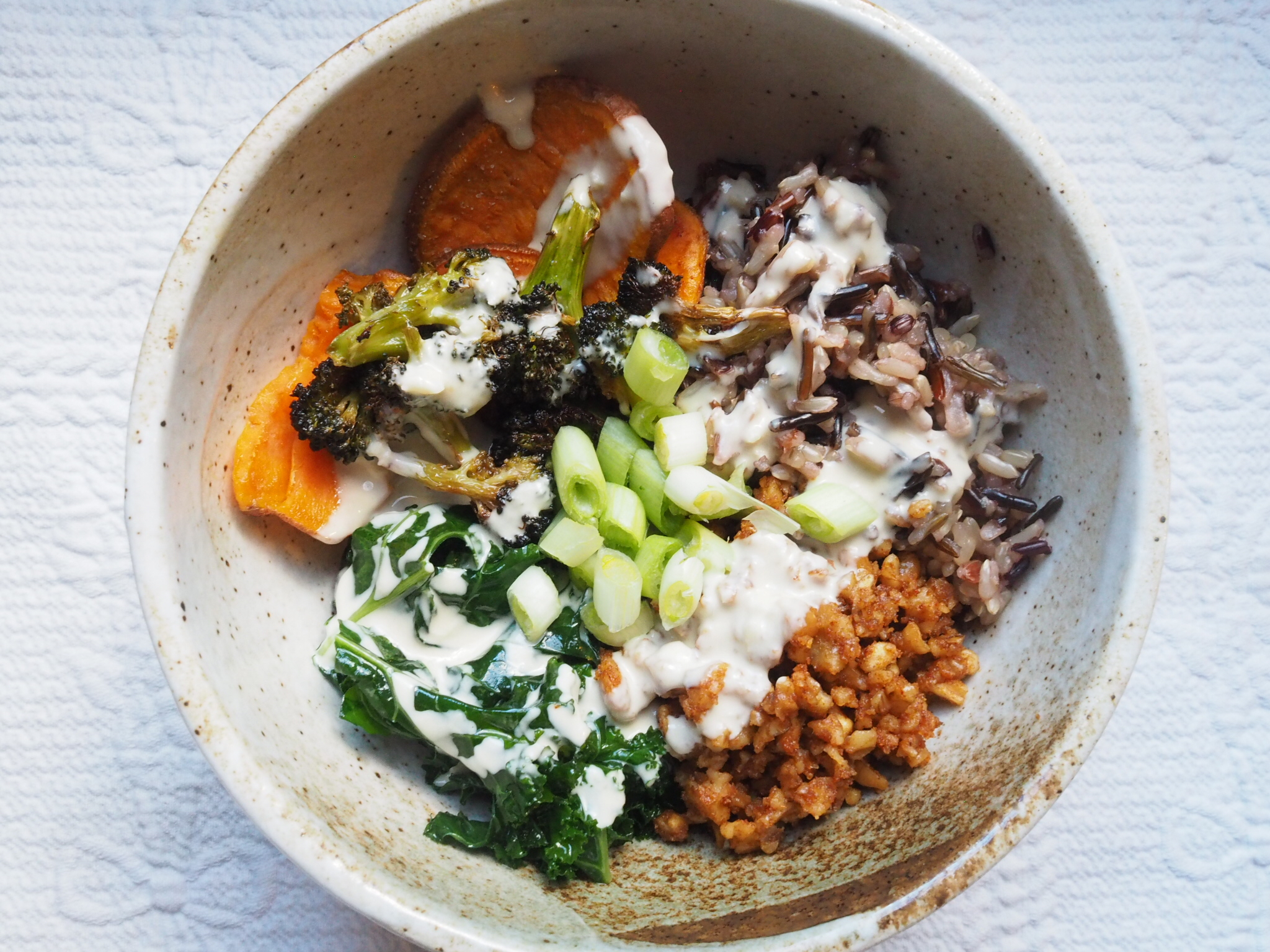Buddha Bowl with Ground Taco Walnut Meat More Life