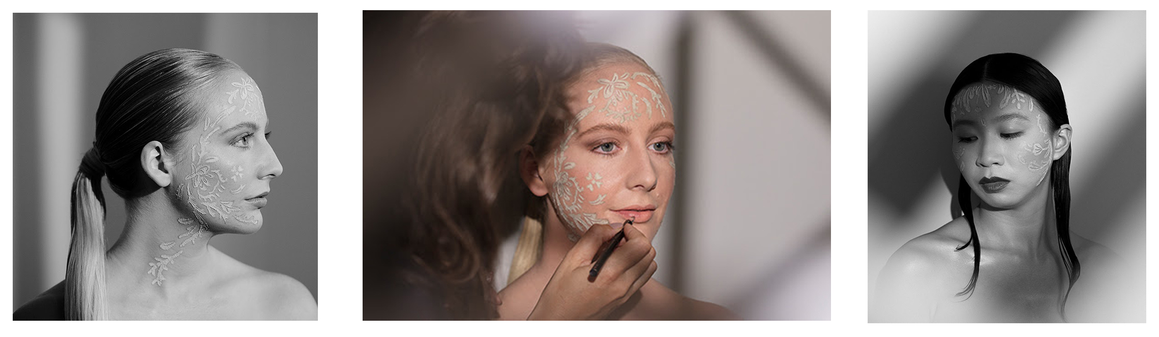 Collaborative shoot for Antipodes Skincare, a clean beauty brand, showcasing their mud-mask 'Halo'. Hair and makeup by me, illustration by Zoe Gillet.