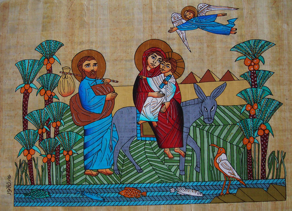 The Holy Family escape to Egypt   Unknown   Artist