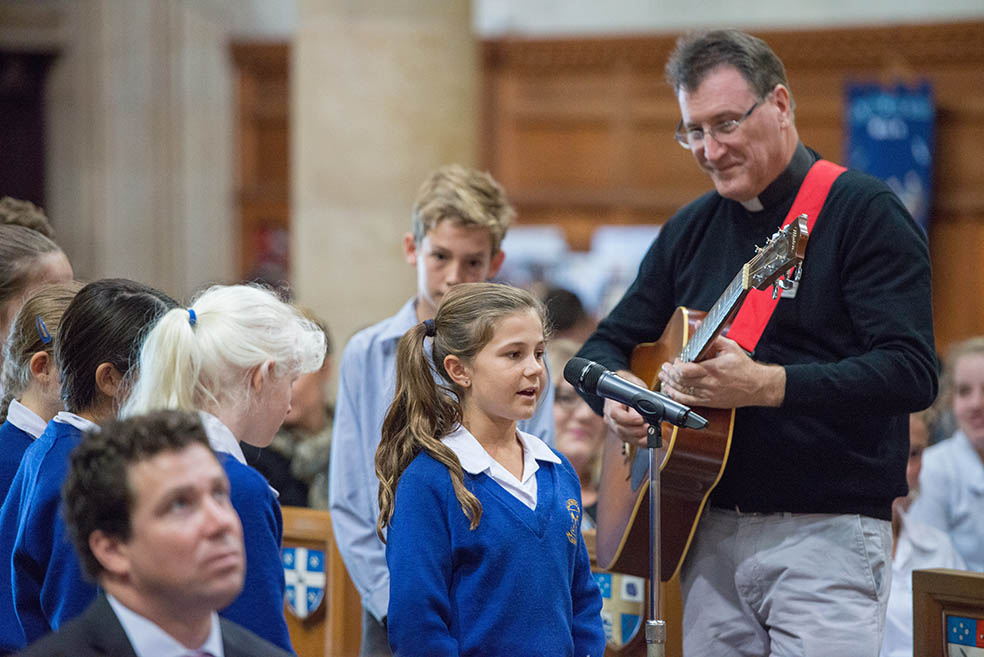 Andrew Mintern at the 2015 Schools Service at St Peter's Cathedral