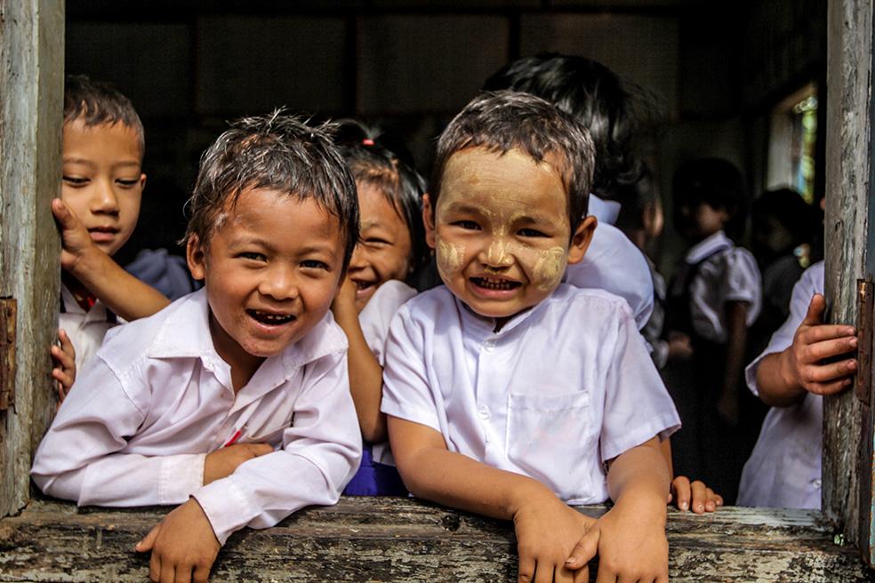 School children in Myanmar