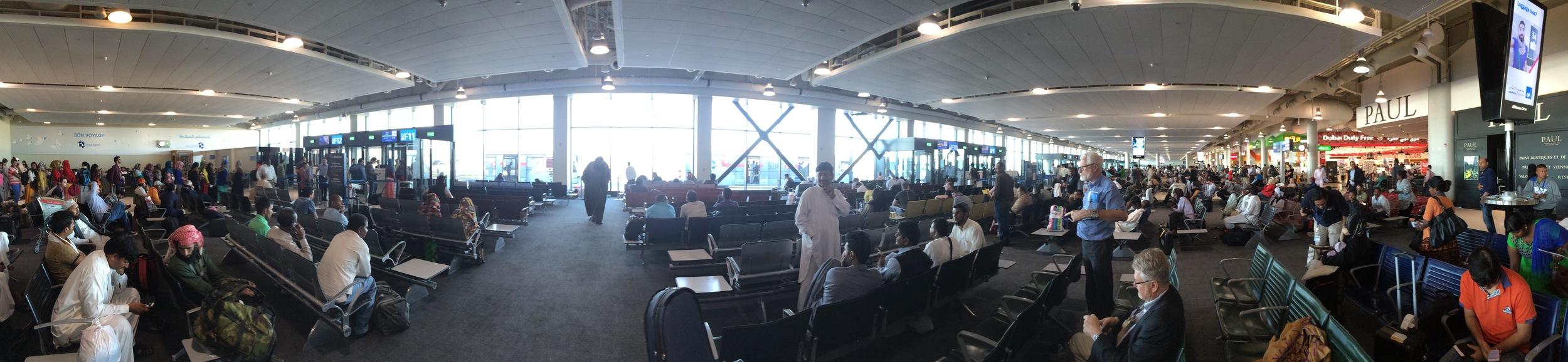 Dubai Terminal 2, awaiting flight to Juba