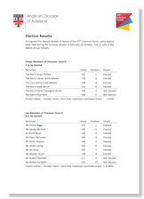Download  the Election Results of the 2016 Synod