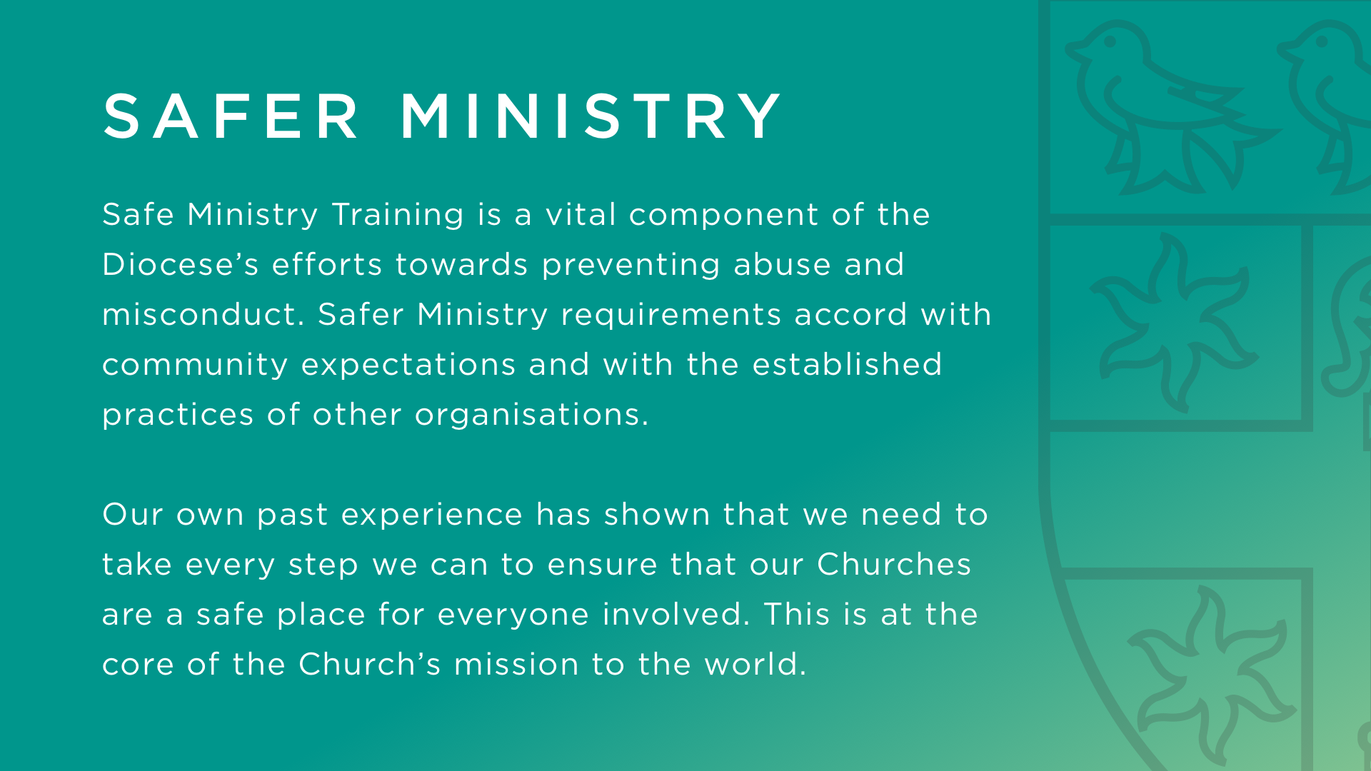 Download Safer Ministry Powerpoint (16:9)   Download Safer Ministry Powerpoint (4:3)   Download Safer Ministry Powerpoint image files   (16:9)   Download Safer Ministry Powerpoint image files (4:3)