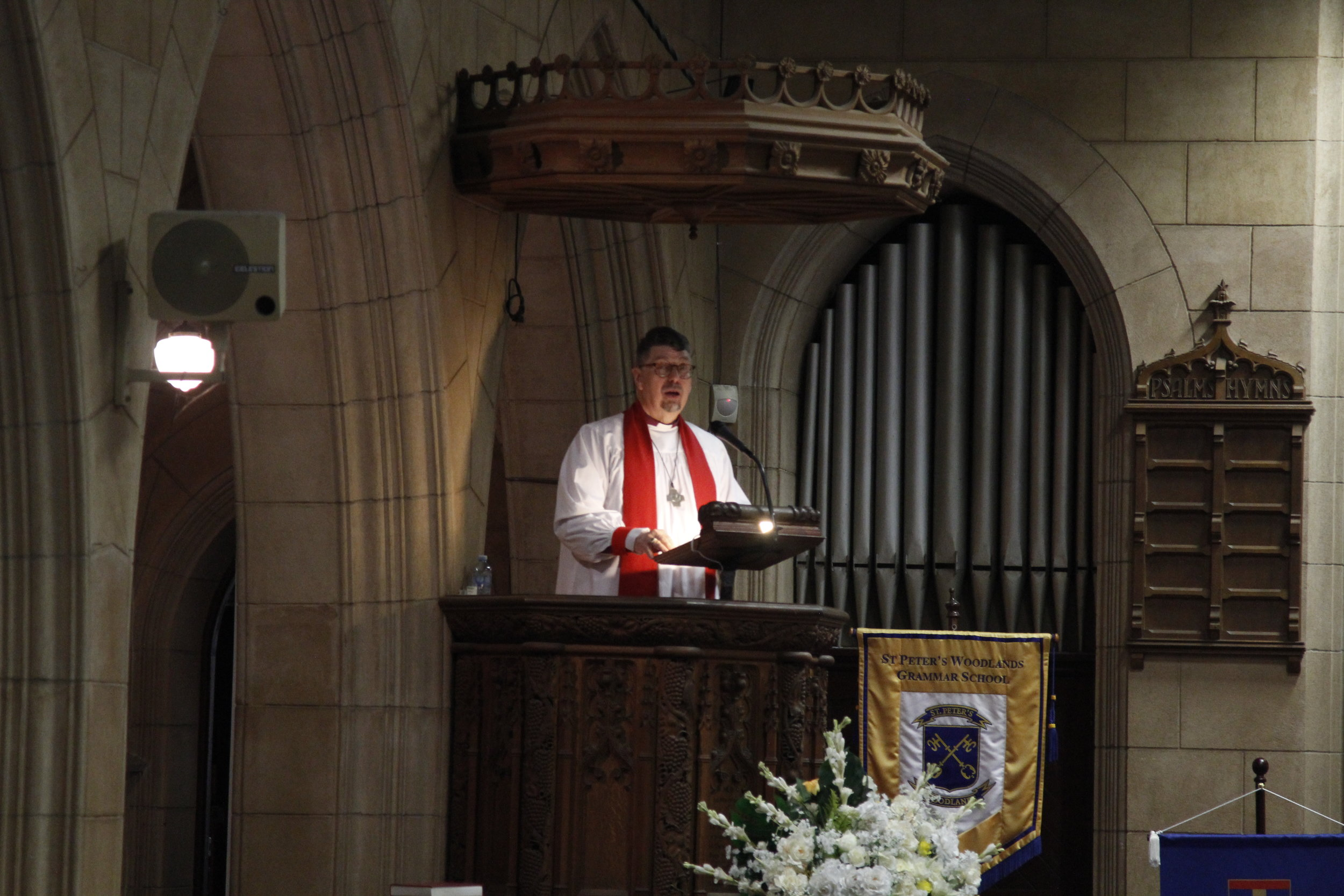 Bishop Tim Harris delivers the Synod Sermon