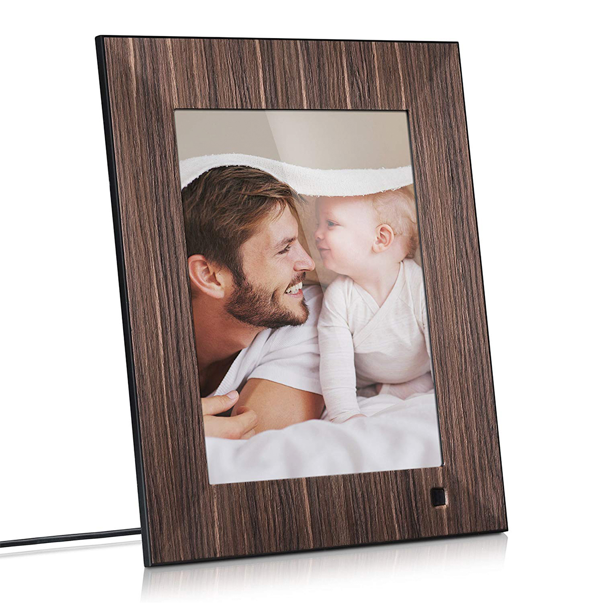 + A digital photo frame - You can opt for a fancy digital frame that comes with Alexa (two gifts in one!) or perhaps a simpler device that uses a USB stick (pictured above). Or maybe these gifts are a bit out of your price range? No worries, a family photo in a nice frame is always a perfect go-to. Bonus points if you paint the frame yourself!(Image | Amazon)