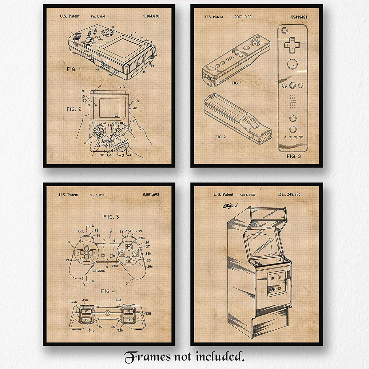 + Previous generation video game console diagrams - These are so snazzy. Even if you do not like video games, it's hard to deny the appeal of a vintage looking diagram. If your significant other has been a gamer since the early years, they are bound to love these posters. Plus, if it fits your home's aesthetic maybe you could actually let them hang it up!(Image via Amazon)