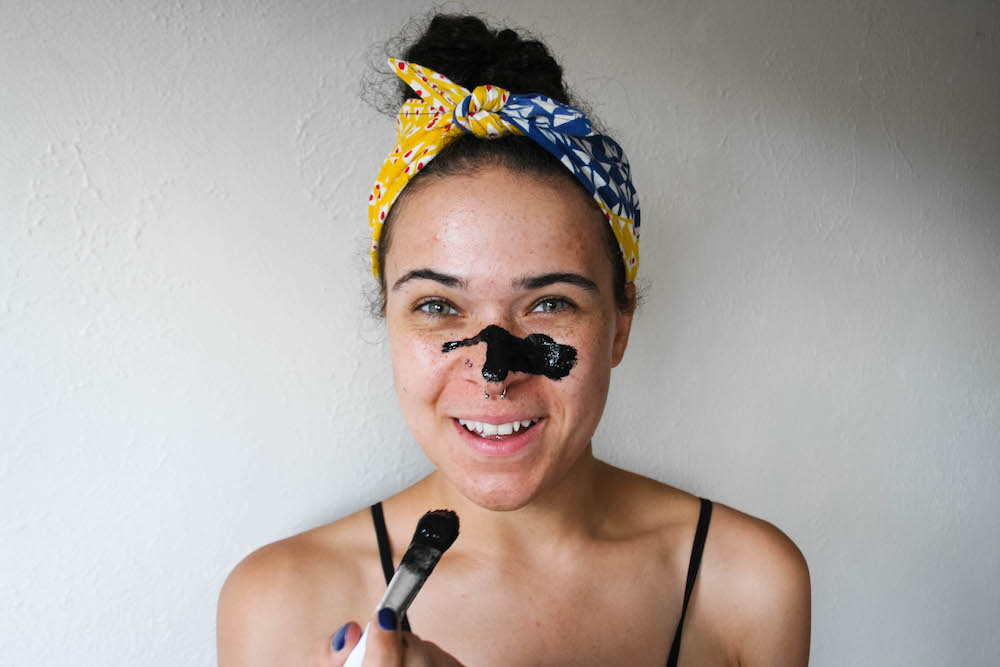 2 Minute DIY Pore Strips - I swear, this is one of the easiest and fastest DIY pore masks that actually works. It takes two ingredients and two minutes or less to make. Learn how by checking out the full post!