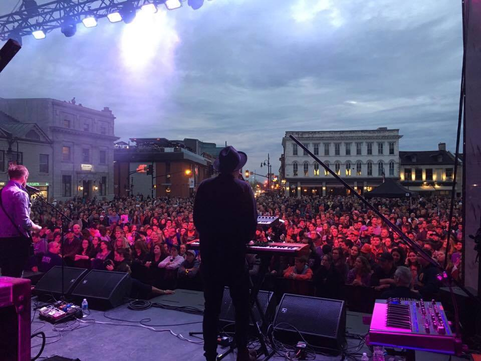 View from the stage at Springer Market Square
