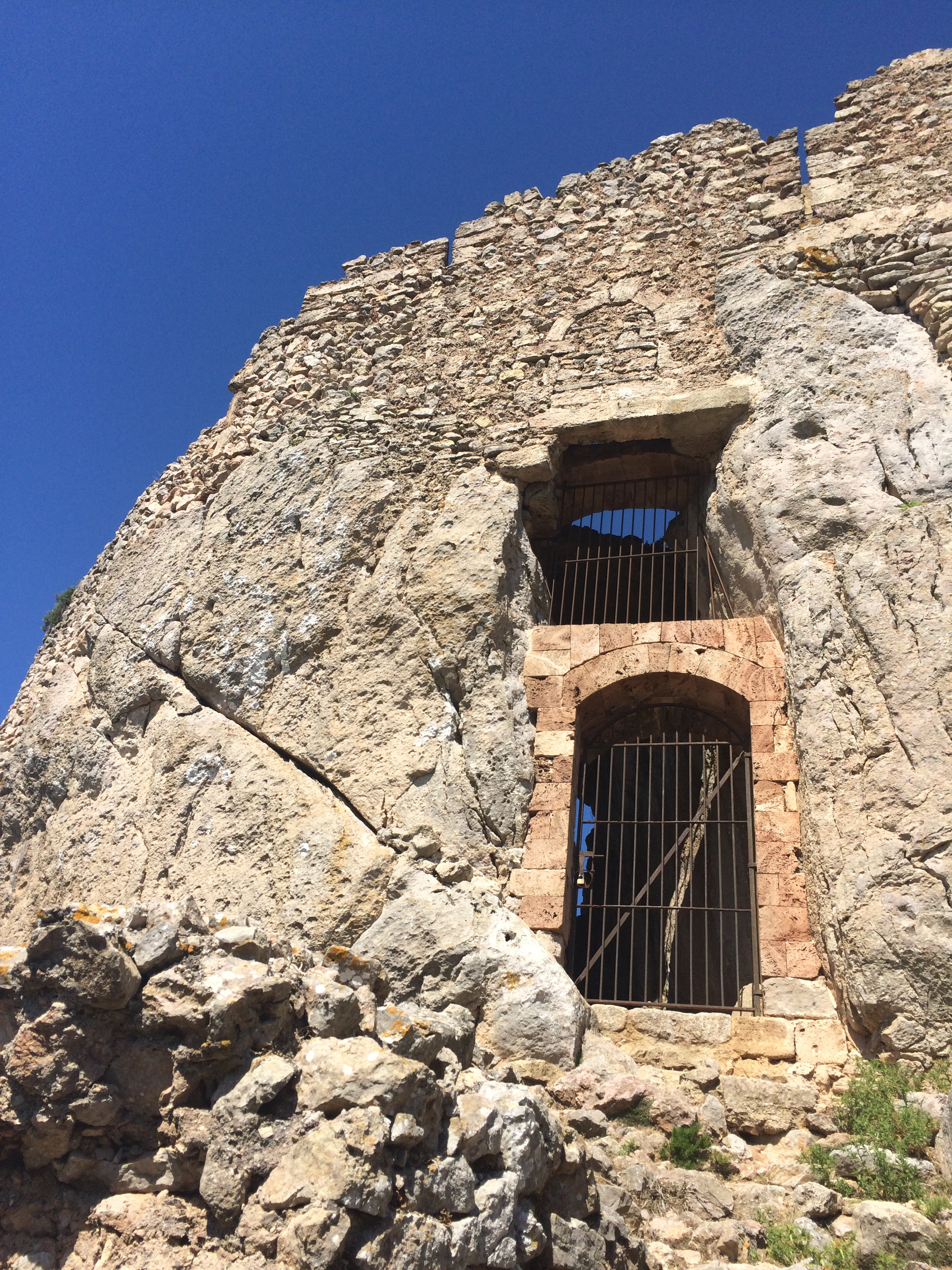 The entrance to the fortress was unfortunately locked.