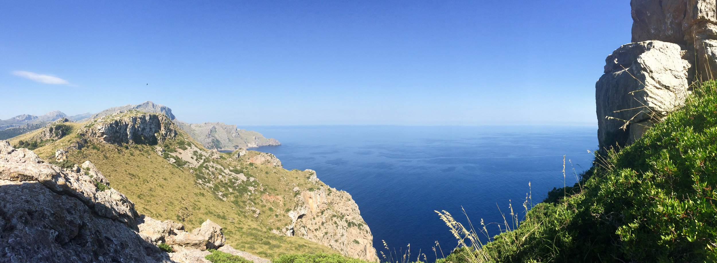 Looking West from the foot of the fortress revealed Mallorca's stunning coastline.