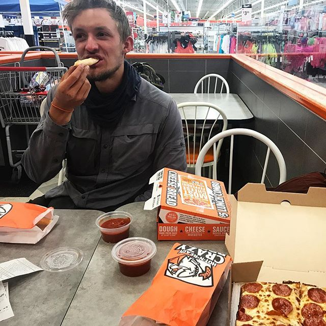 Day 74: After descending via Kearsarge Pass and finding our way to the town of Bishop, I tried unsuccessfully to indoctrinate Theo (Captain Ramen) into the cult of Little Caesars. This Dane loves himself some 'Murrica' including the Silverado pickup truck and just about anything redneck. But crappy pizza? Nope. Not so much. What a bummer. #pacificcresttrail #pct #pct2017 #thruhike #thruhiking #backpacking #hike #hiking #outdoors #nature #adventure #littlecaesars #pizza #pizzapizza #badpizza #murrica #redneck #trailfamily #trailfam #sdp #teamsdp #town #towndays #zeroday
