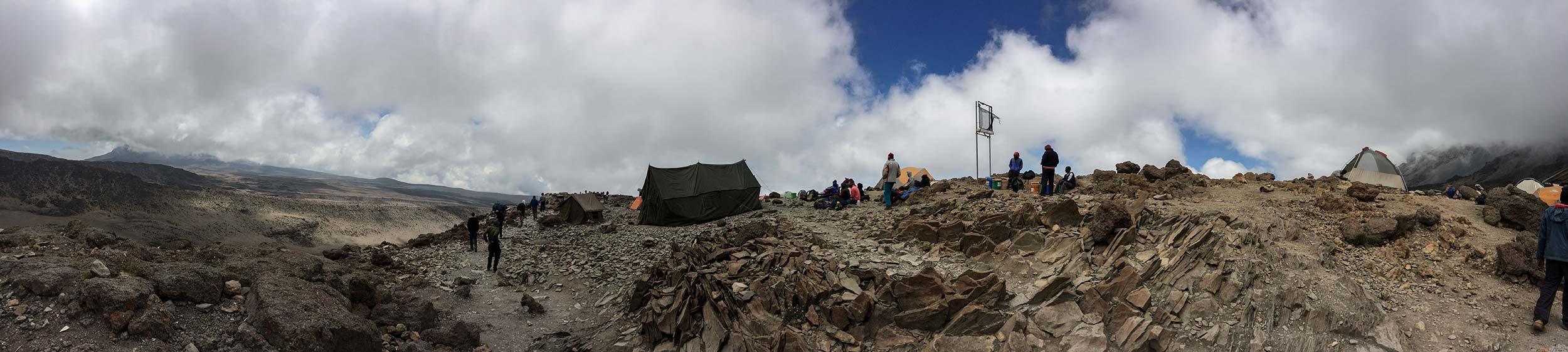 Barufu Camp is situated on a ridge with hardly any flat ground at all. It is barren, and bleak. The air is thin, but the excitement is frenetic.