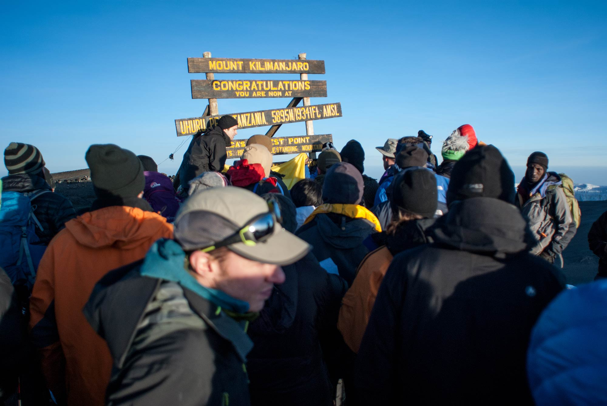 A crowded summit on Kilimanjaro put me in a frustrated mood.
