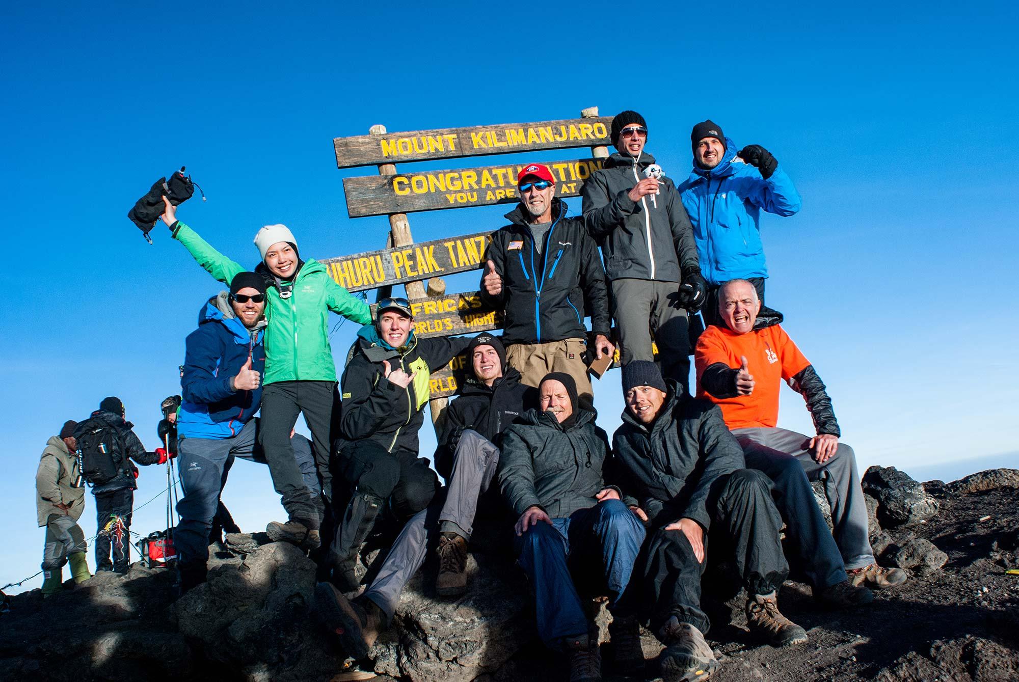 Februrary 22, 2016: All climbers from the Duma Explorer group successfully summited Kilimanjaro.