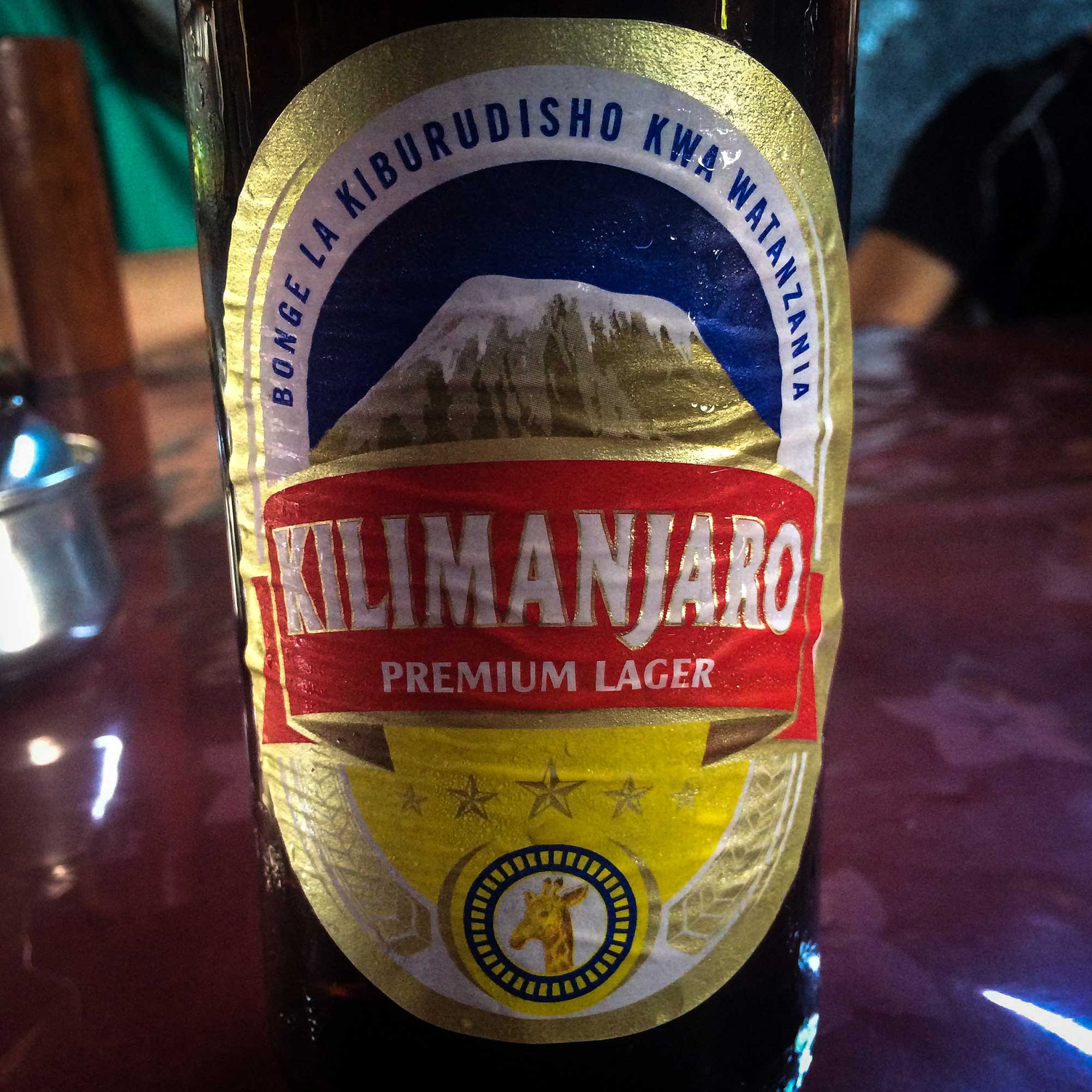 A good way to rinse away the exhaustion from climbing Kilimanjaro is simply to drink Kilimanjaro.