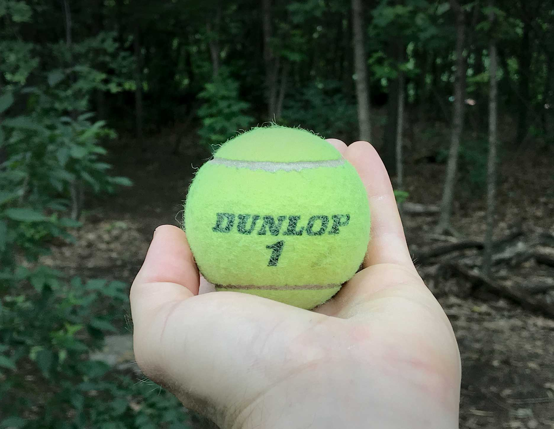 Tennis balls make great massage balls, but they don't travel with me on trail since they're single purpose.