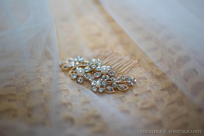 sacramento wedding photographer details hair accessory