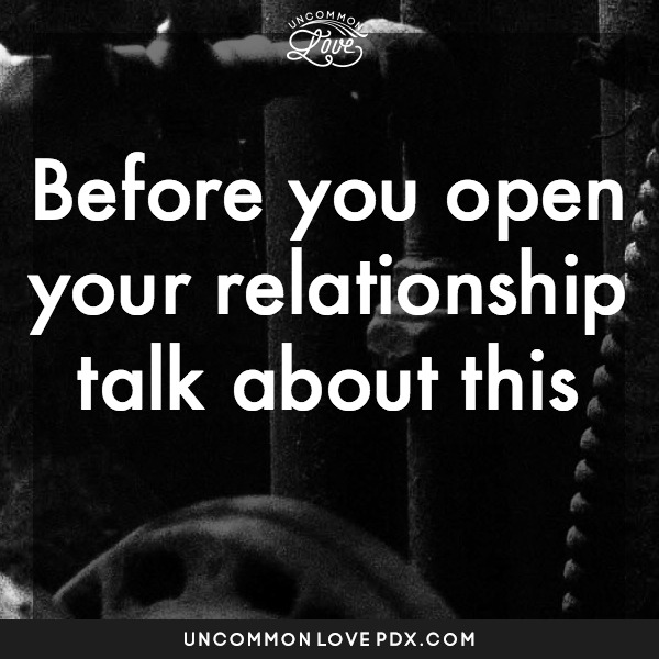 open relationship | prepare for open relatoinship