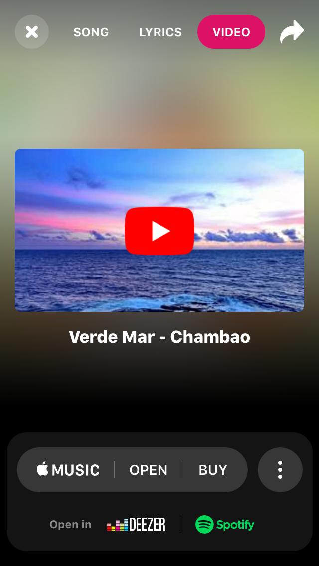 My Shazam entry for Chambao