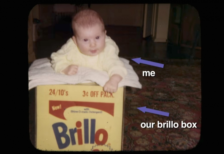 Film still from the 2016 HBO Documentary film  Brillo Box (3¢ off)