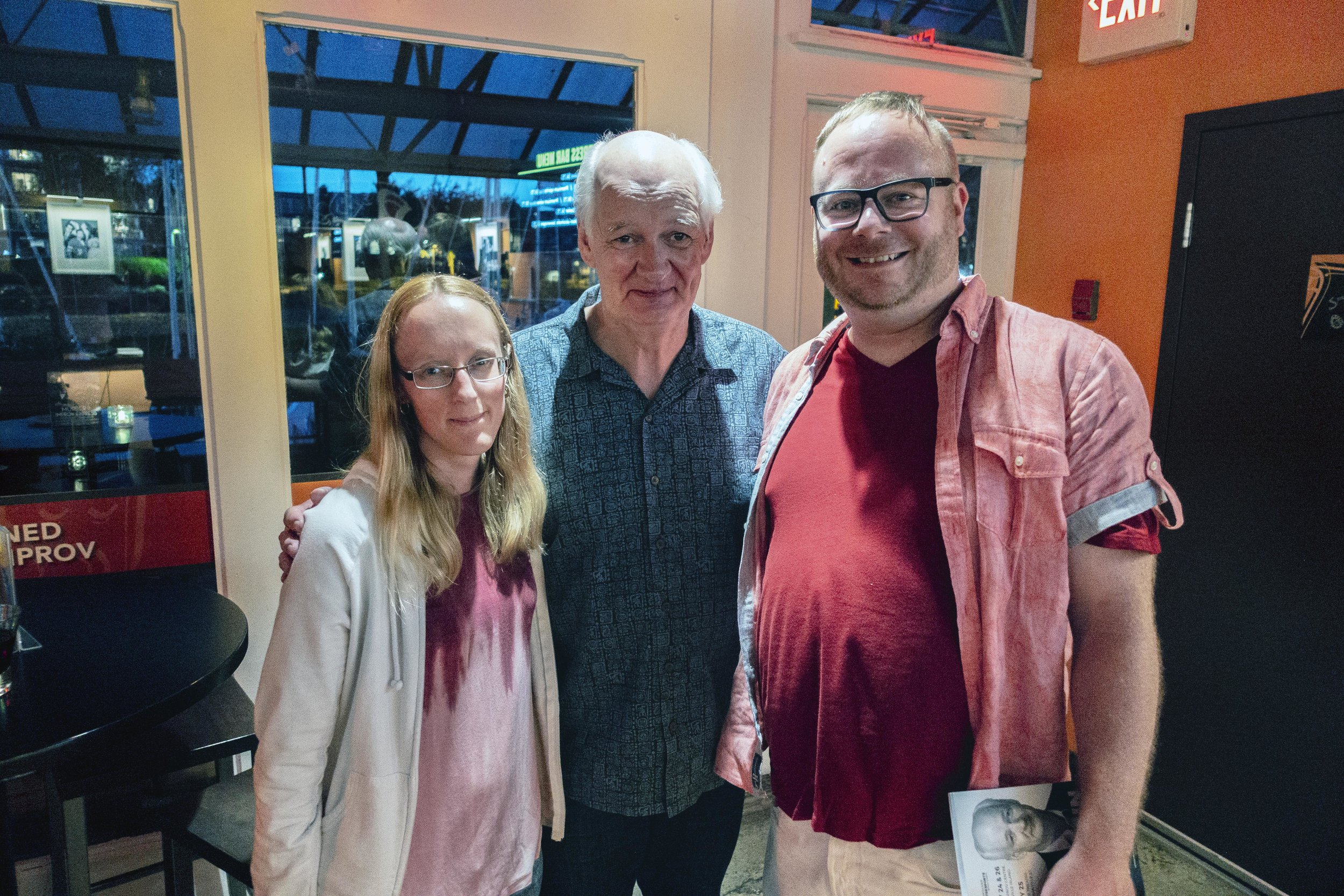 Meeting a local hero - Colin Mocheri on May 24, 2018.    Left to right: Shannon Cawley, Colin Mocheri and Steven Lee.