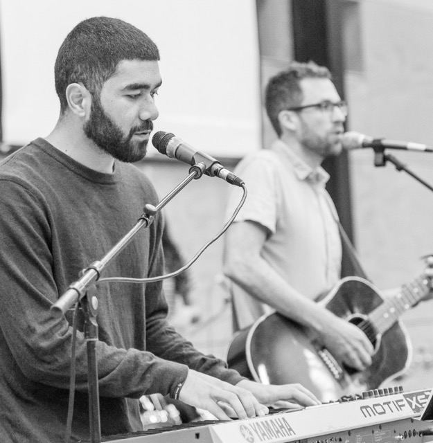 Nate leading worship with Josh Tagaloa (one of the young worship leaders he is developing at Shore CC).