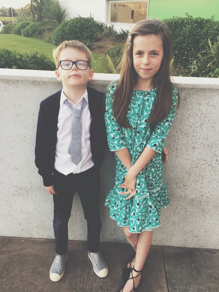 Henry and Lane at the school disco (dance).
