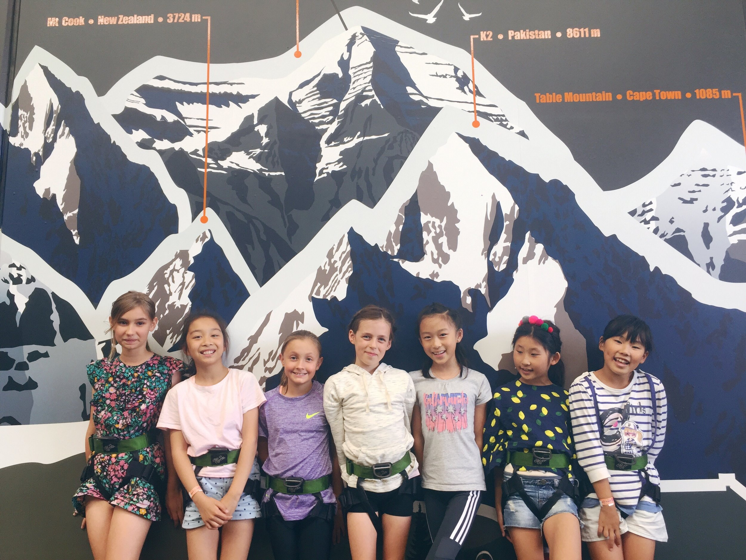 Lane's (early) 10th birthday party with her NZ friends.