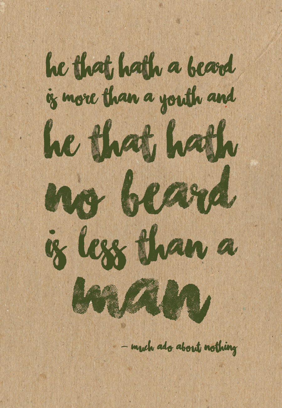 He that hath no beard
