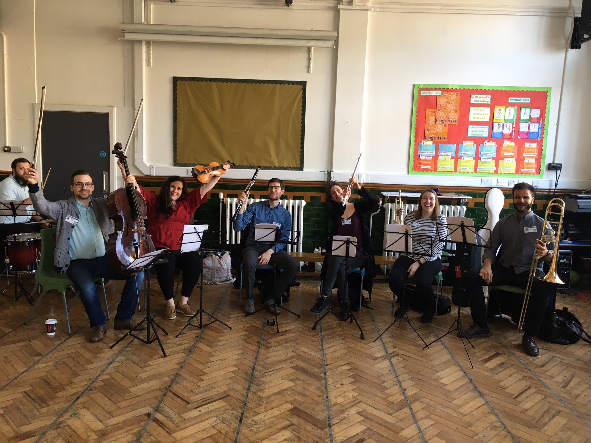 ELMG musicians at Willowbrook Primary School in Leyton