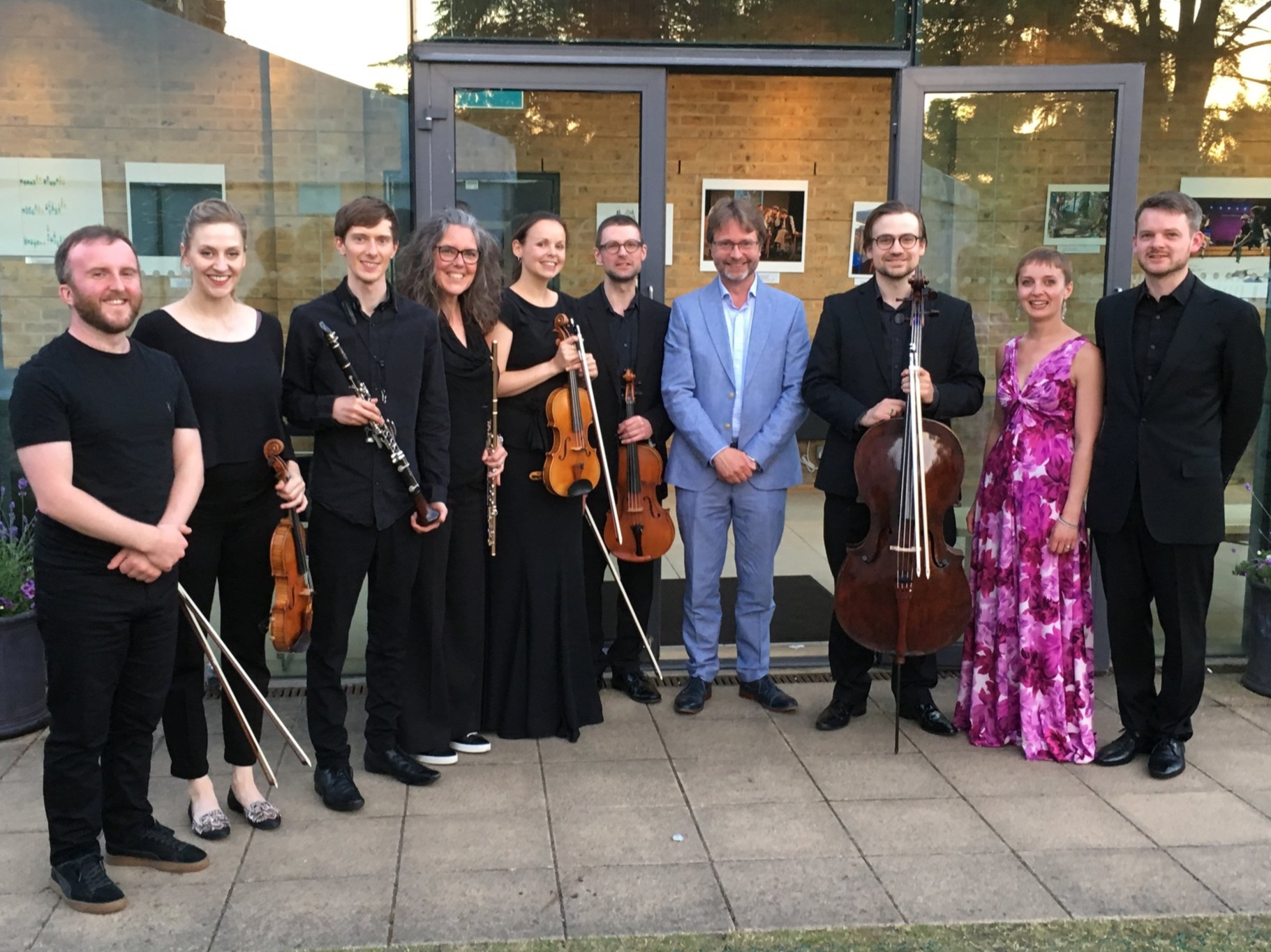 ELMG musicians with Paul Edlin and Katie Bray after the performance