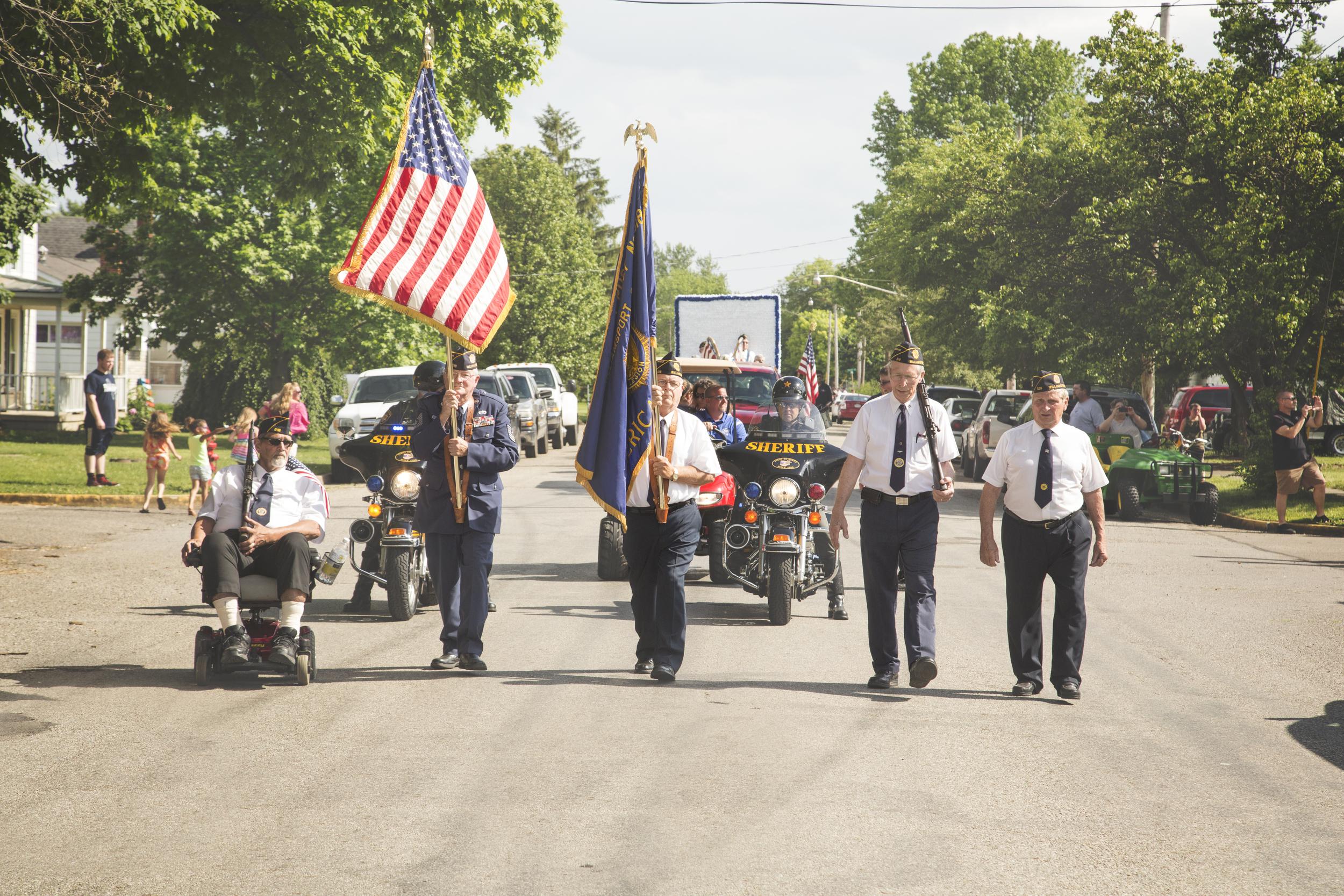 The parade has begun!