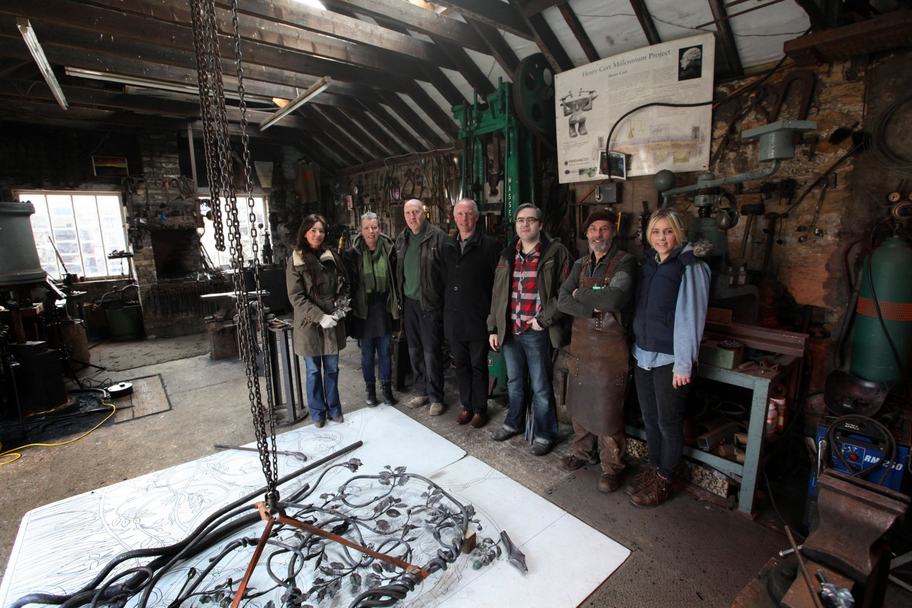 group picture at the forge