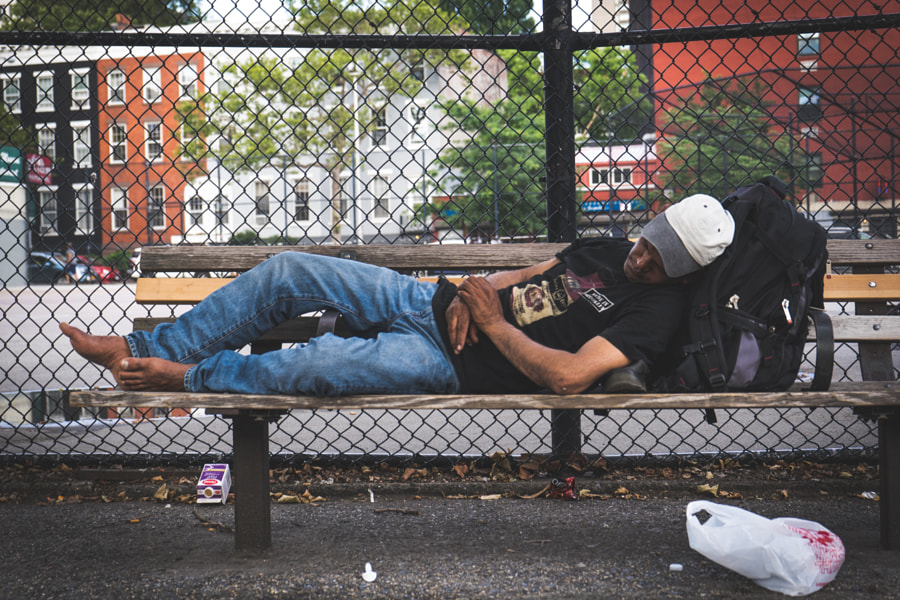Nap on a Bench