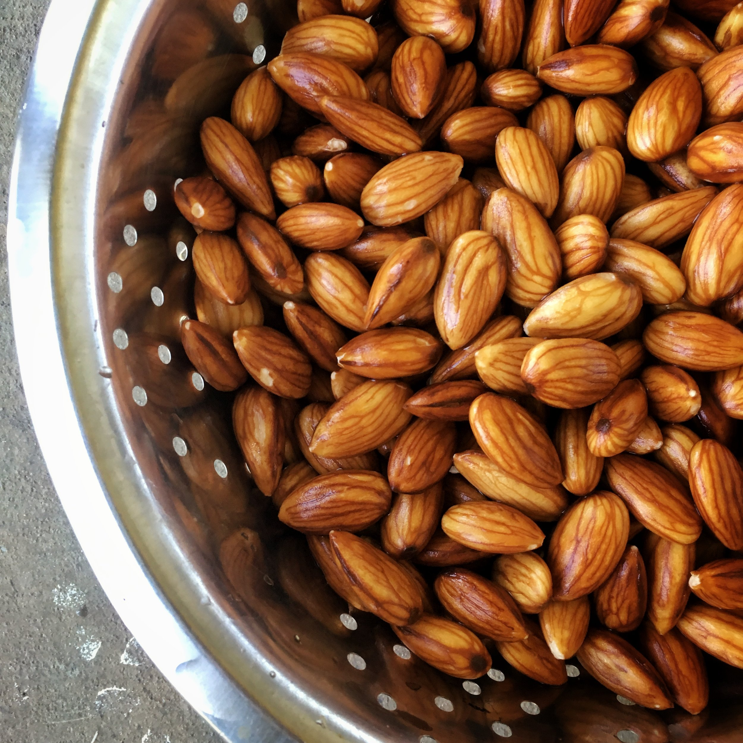 Soak almonds overnight -