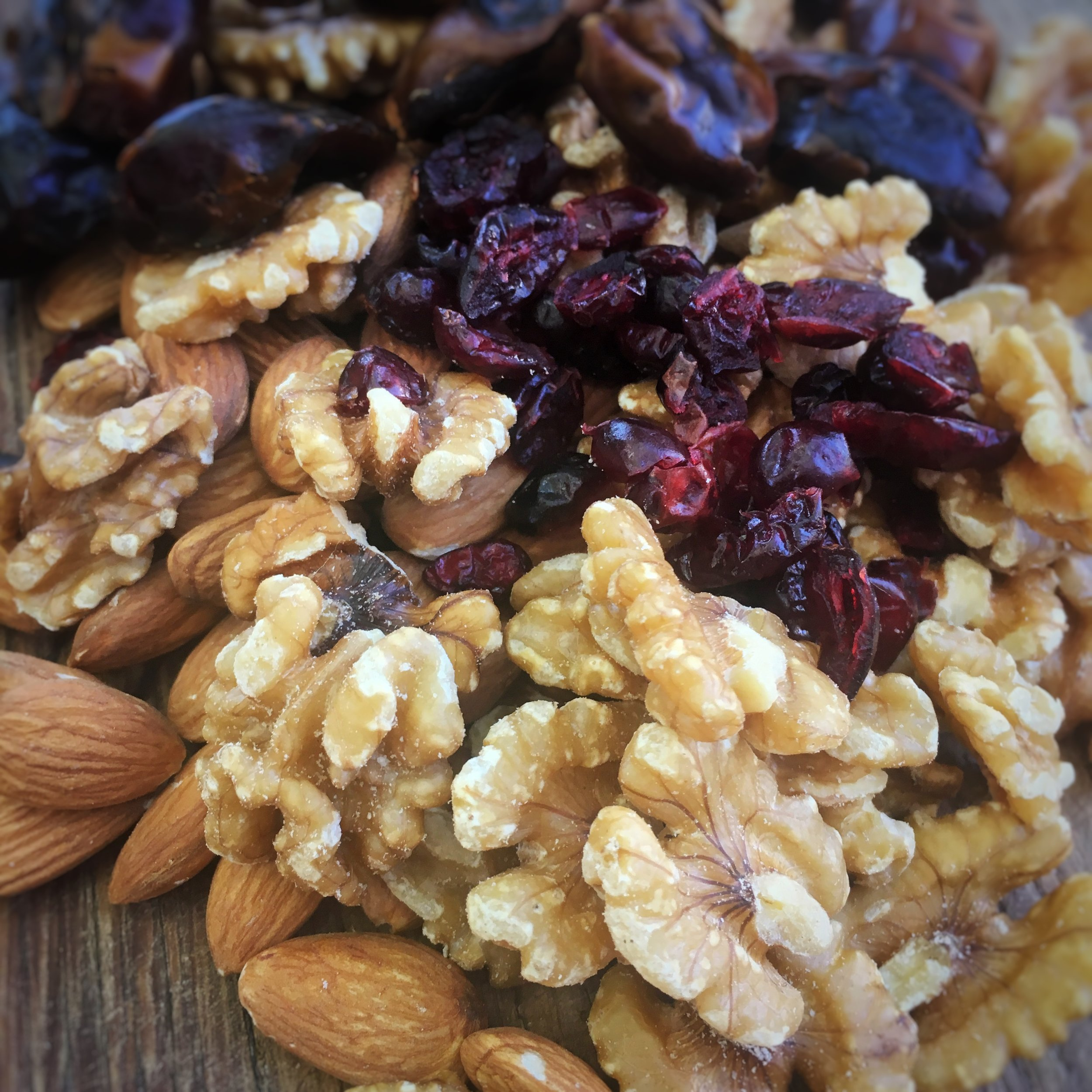 Use Raw Nuts - I've used walnuts and almonds but you can use any that take your fancy