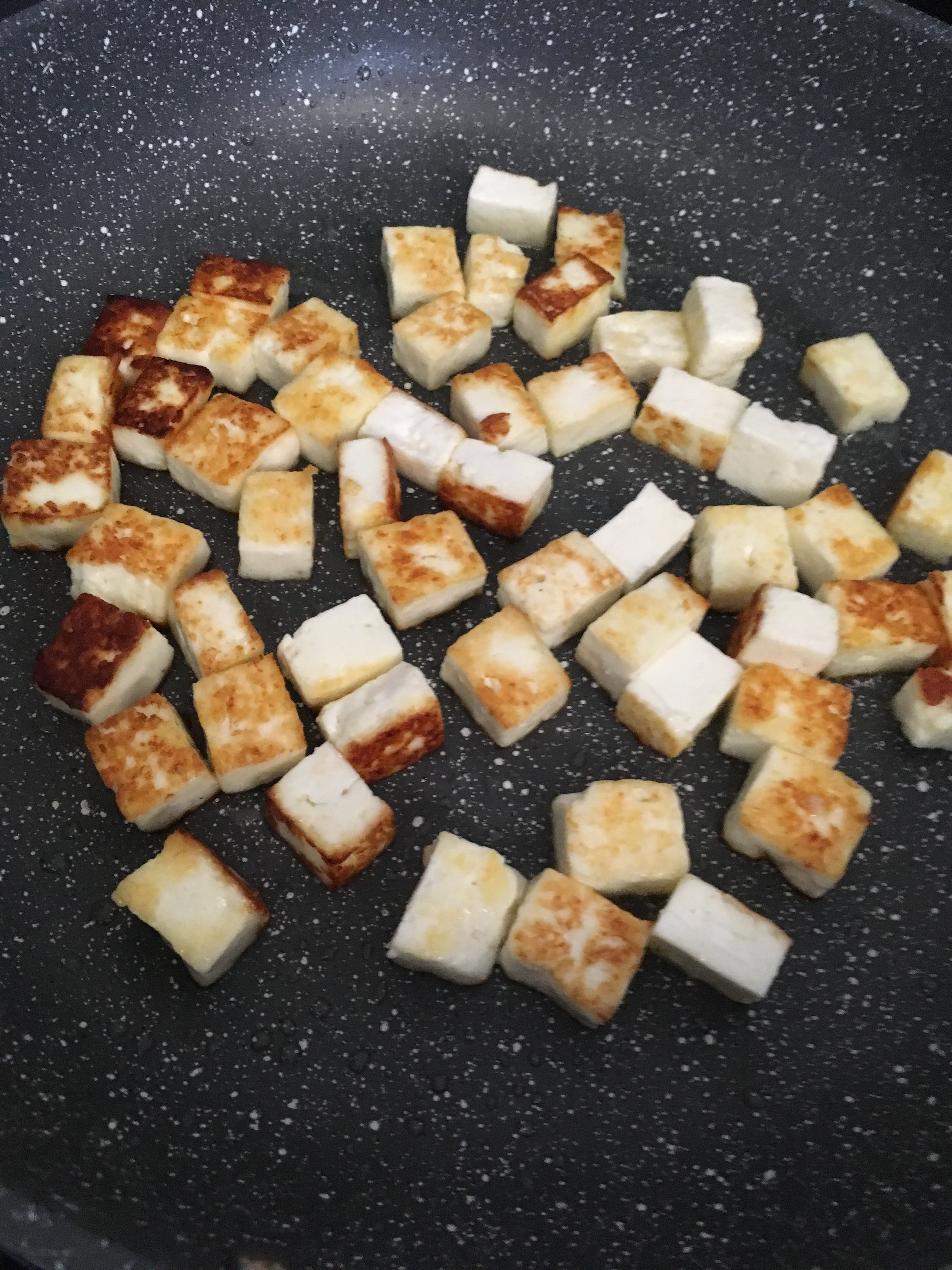 Fry the paneer - in a little ghee until golden brown and set aside.....