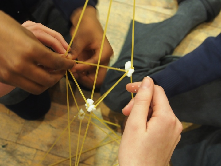 HOW TALL CAN YOU BUILD A TOWER OF SPAGHETTI AND MARSHMALLOWS?