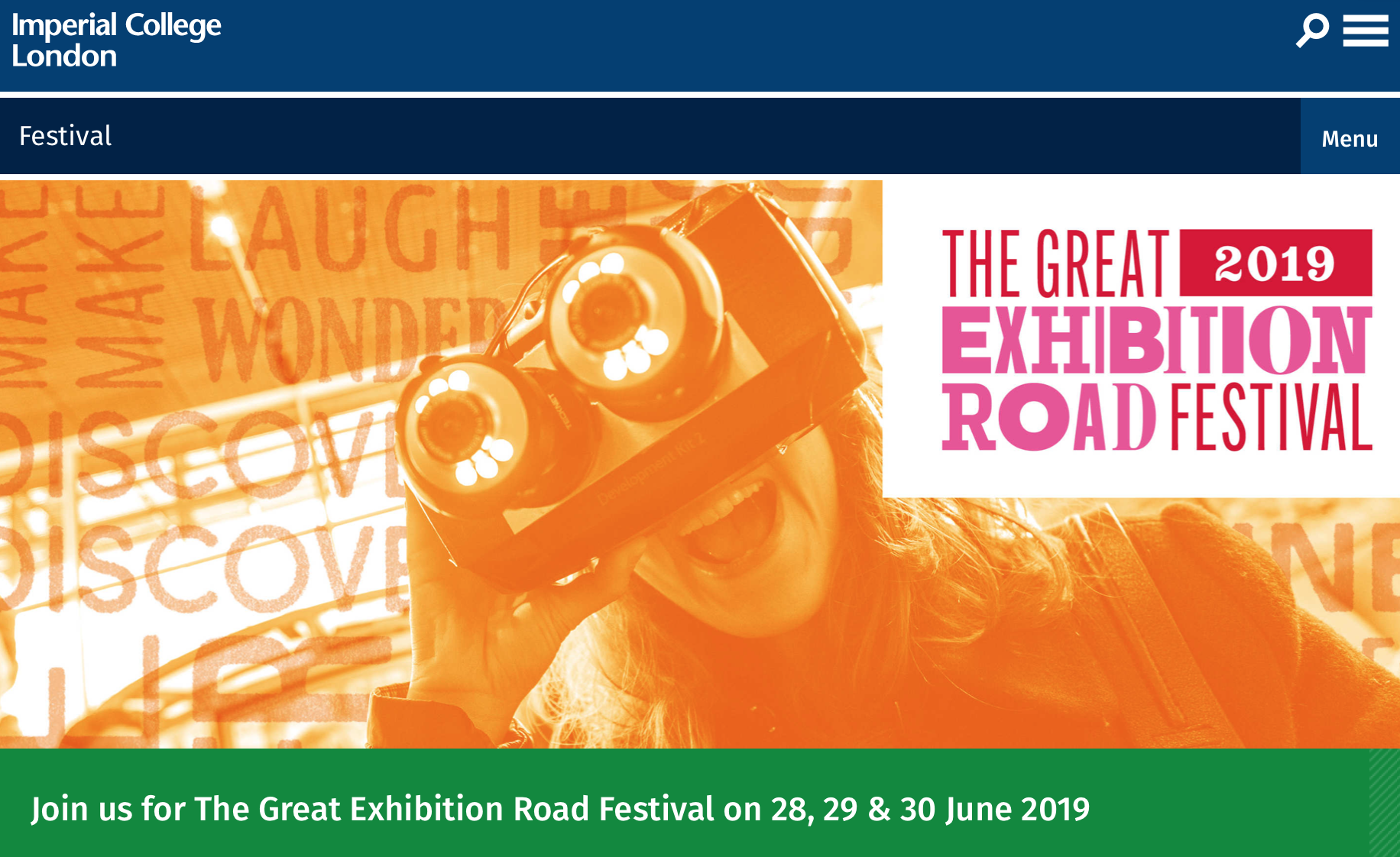 Great Exhibition Rd Festival 2019