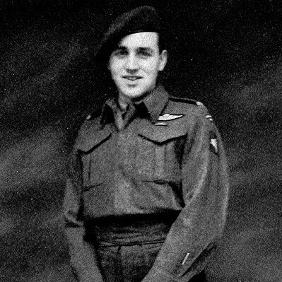 My Grandfather, Leonard Thompson. Member of the 1st Canadian Parachute Battalion. Age 17.