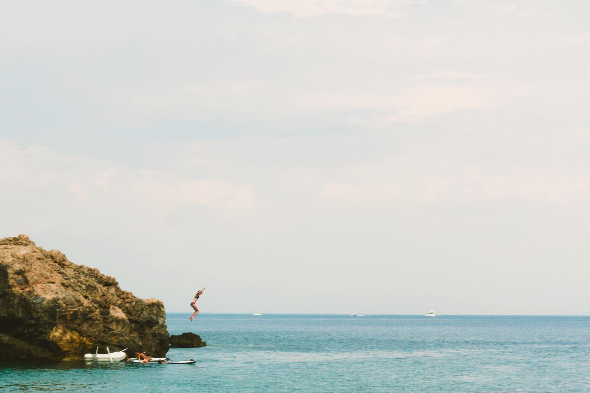 Me, jumping into 2017 (aka the Mediterranean Sea).
