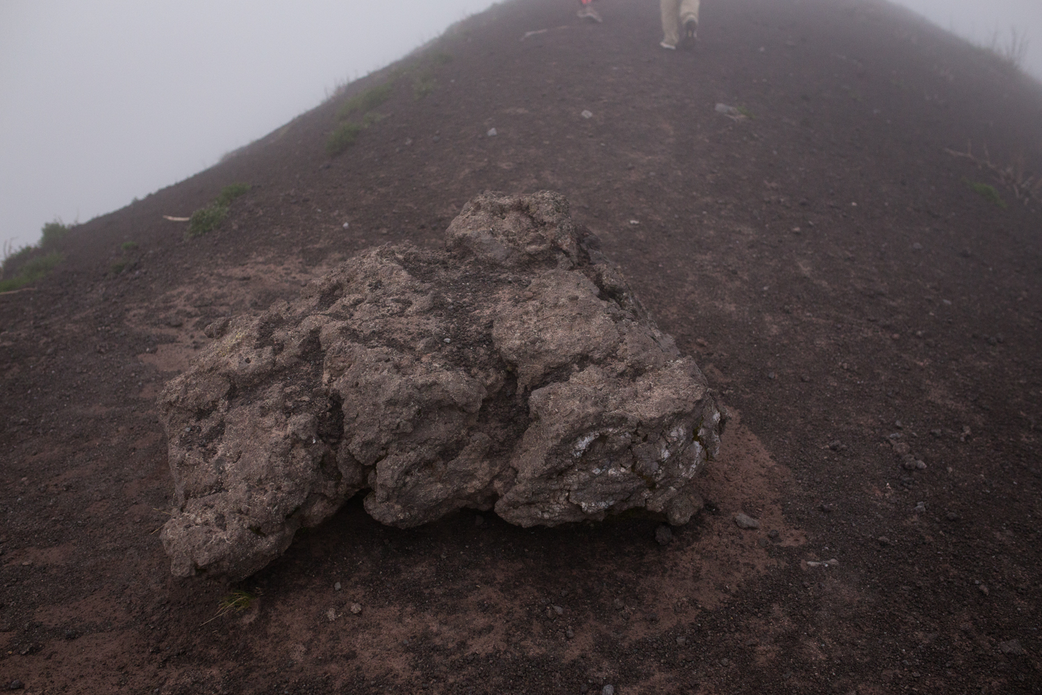 This boulder, about 400m from the mouth of Fuego, was not here before the June 2 eruption.